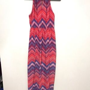 Forever 21 maxi dress red printed size M women sle